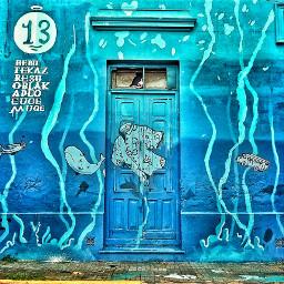 colorful buenosaires door