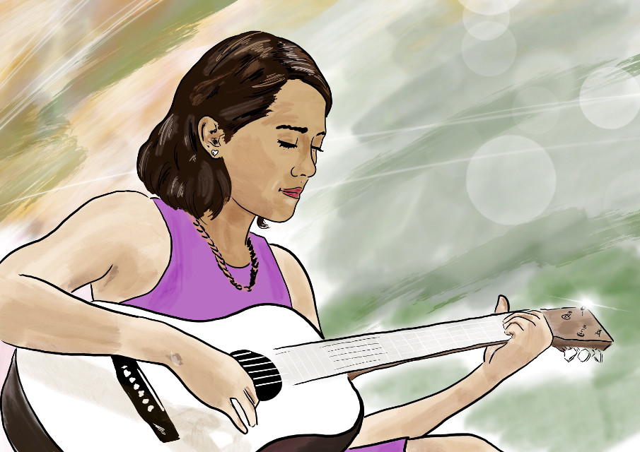 #drawing #painting #girl #music #colorful #FreeToEdit