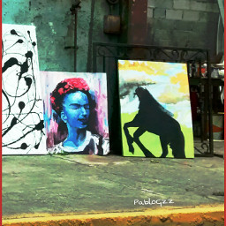 paiting streetgallery streetart fridakahlo