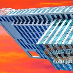 photography colorful city building sunrise