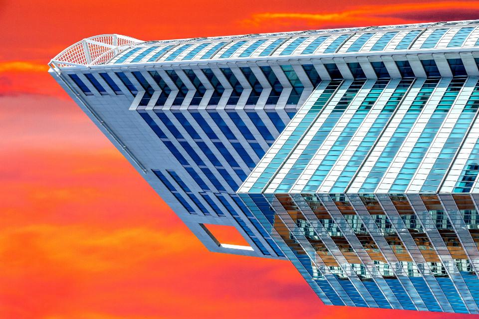 Illusion #photography #colorful #City #Building #Sunrise #Sunset