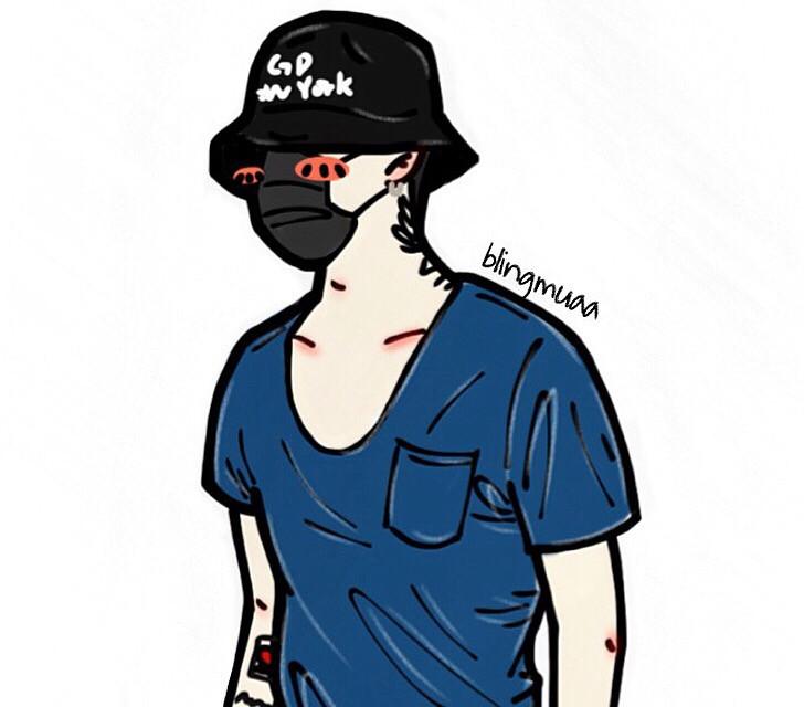 blue💙#gd#gdragon#권지용#bigbang#VIP#YG#카툰#그림#미술#팬#fanart#drawing#painting#comic
