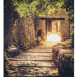 vikos monastery goldenhour morning sunrise