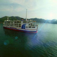 wapshowmethesea ocean ferry lensflare natural