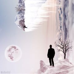 wapsidewayshike madewithpicsart edgeoftheworld snow silhouettes freetoedit