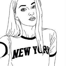 freetoedit tumblr newyork outlines