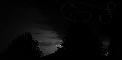 night darkness thunder blackandwhite