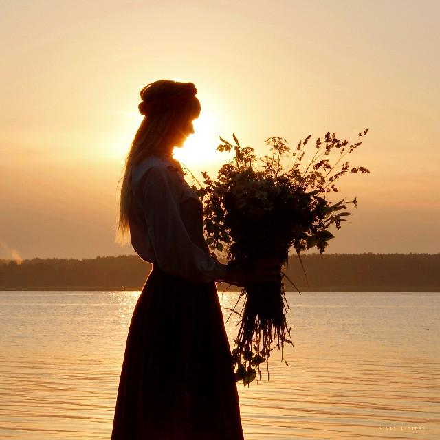 Sunrise on a lake #summer #midsummer #latvia #silhouette