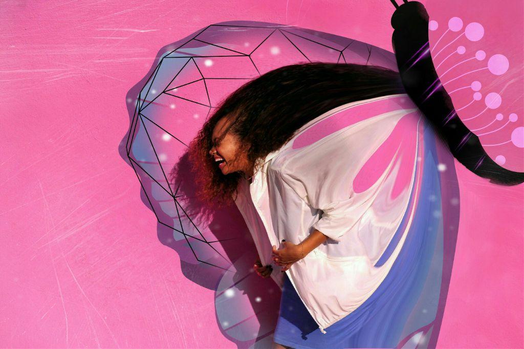 One more remix😊   #pinkday#freetoedit #pink #remix #colorful #emotions #people #girl  #laugh