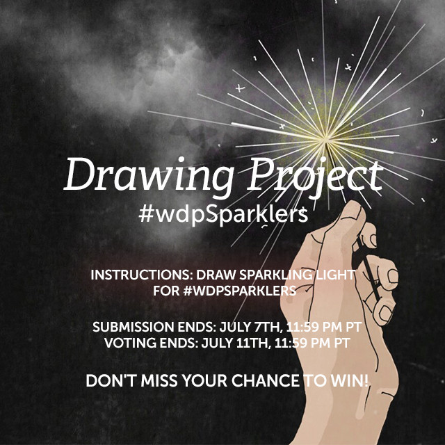 Take on the challenge of drawing the crackling light of sparklers for our Weekly Drawing Project! Use PicsArt's Drawing Tools to create a sparkling painting. Tag it with #wdpSparklers to enter.