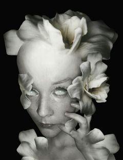 edited white flower creativeselfie