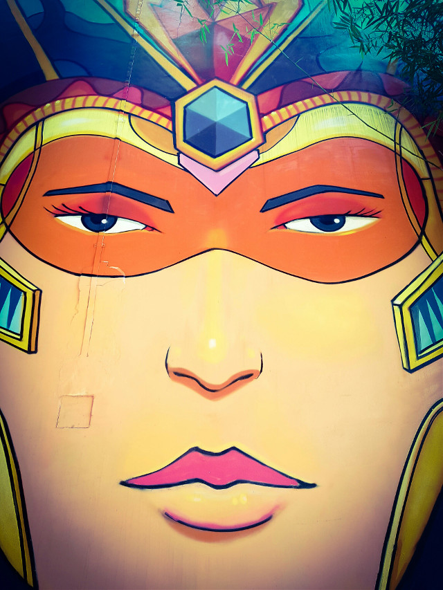 #portrait #mural #face #disguise