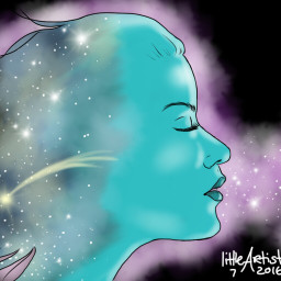 digitalart sketchbookpro painting galaxy shootingstar art illustration drawing people lights fantasy nature colorful artwork doubleexposure