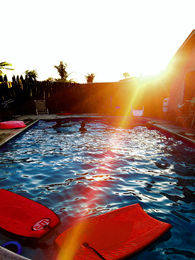 Chino hills, pool time with the family...