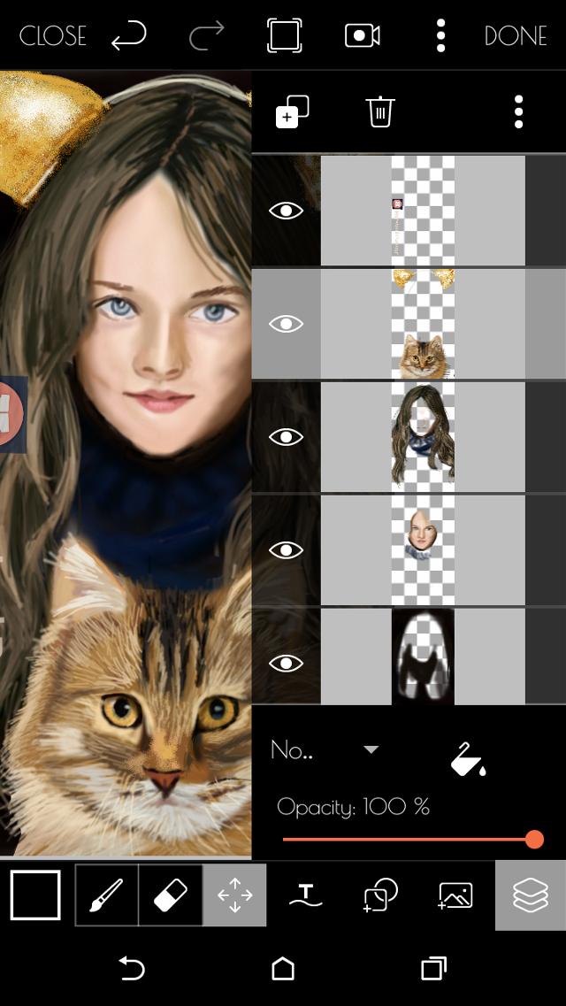 Step by step drawing#catears#girl#cat