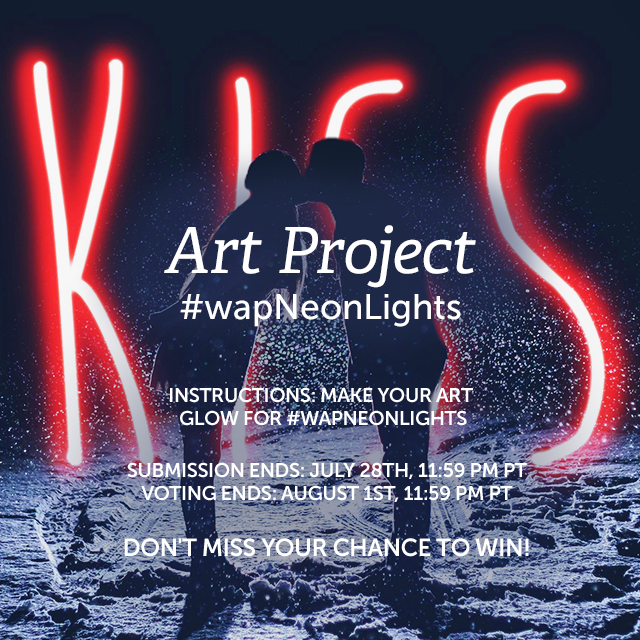 Give your photos a neon glow for our Weekly Art Project