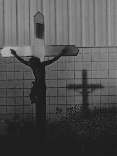 crucifixion religious blackandwhite lowcontrast blackandwhiteblur