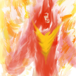 freetoedit painting phoenix marvel jeangrey