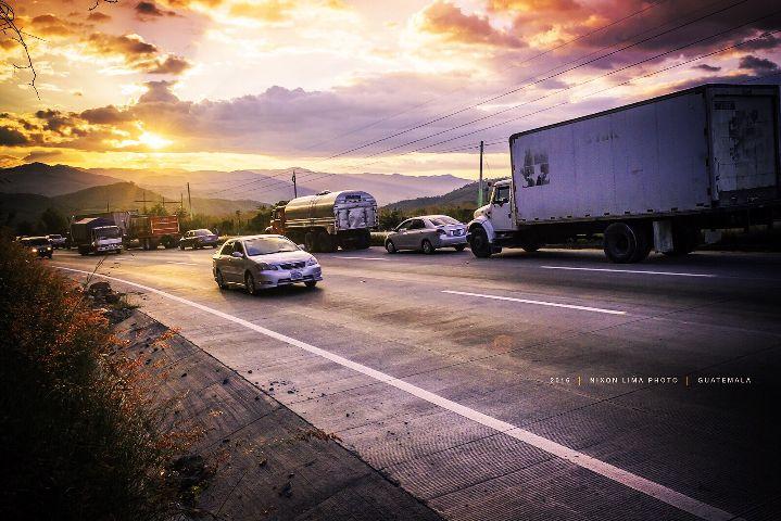 guatemala sunset traffic interesting nature