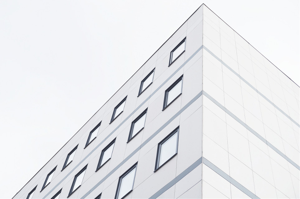 The Sun never knew how great it was until it hit the side of a building. Add colors to this structural shot!   Unsplash (Public Domain) #FreeToEdit #architecture #art #interesting #sky #modern #modernart #building #buildingphotography #city #urban #texture