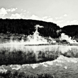 yellowstone firehole blackandwhitephotography nature