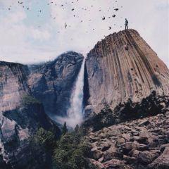 art interesting edited mountain freetoedit