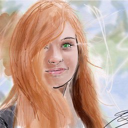 drawing painting watercolor aquarelle girl freetoedit