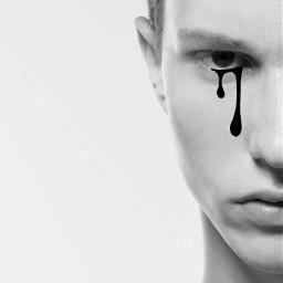 freetoedit tears tear black white