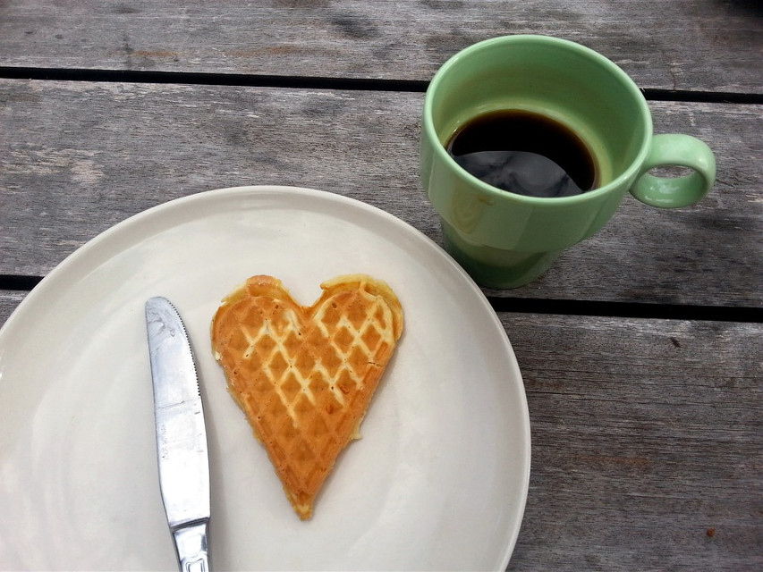 Awesome starts when you take the first step into your crazy imagination. Inspire us with your creativity.  Pixabay  (Public Domain)  #FreeToEdit #breakfast #waffle #coffee #sweet #heart #dessert #food #tasty